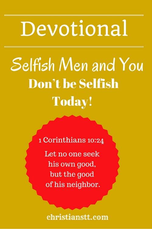 Devotional Selfishness