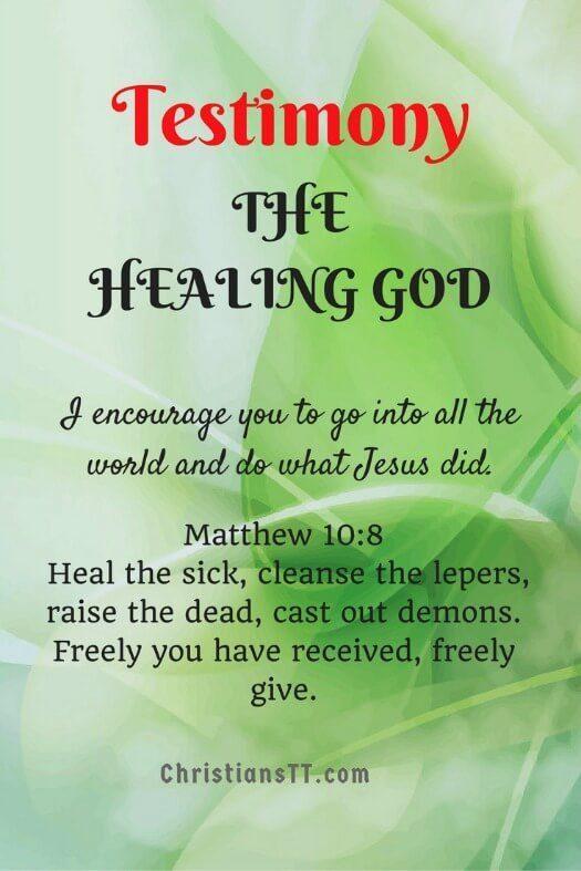 Testimony – THE HEALING GOD
