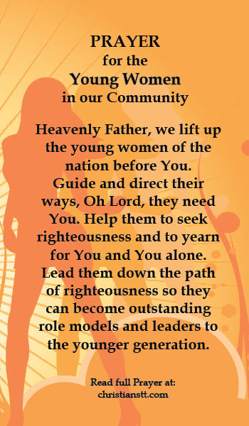 Prayer for the Young Women in our Community