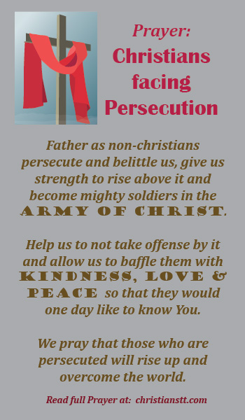 Prayer for Christians facing Persecution