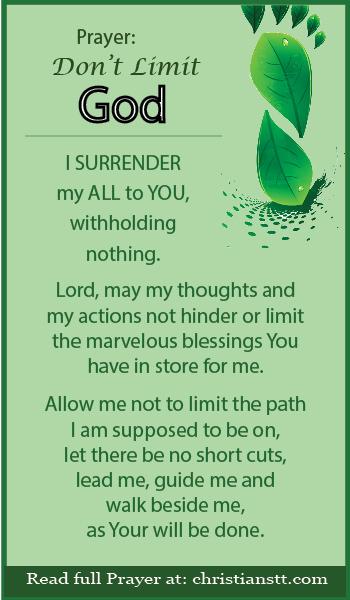 Prayer: Do not Limit God