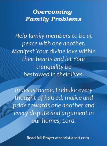 Prayer - overcoming family problems - pin