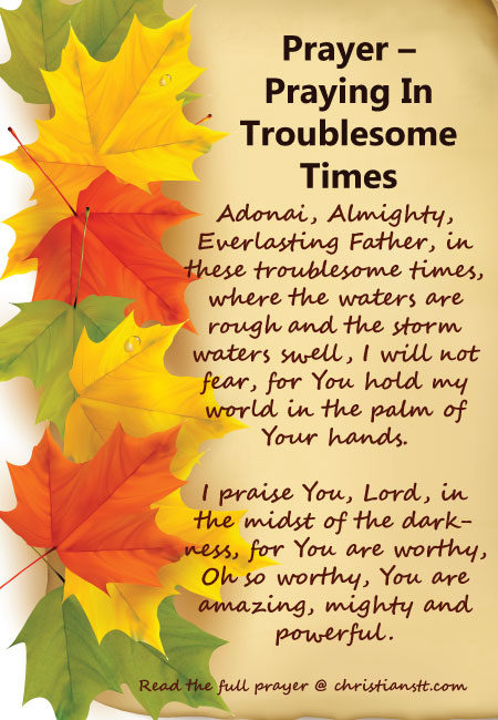 Prayer in troublesome times