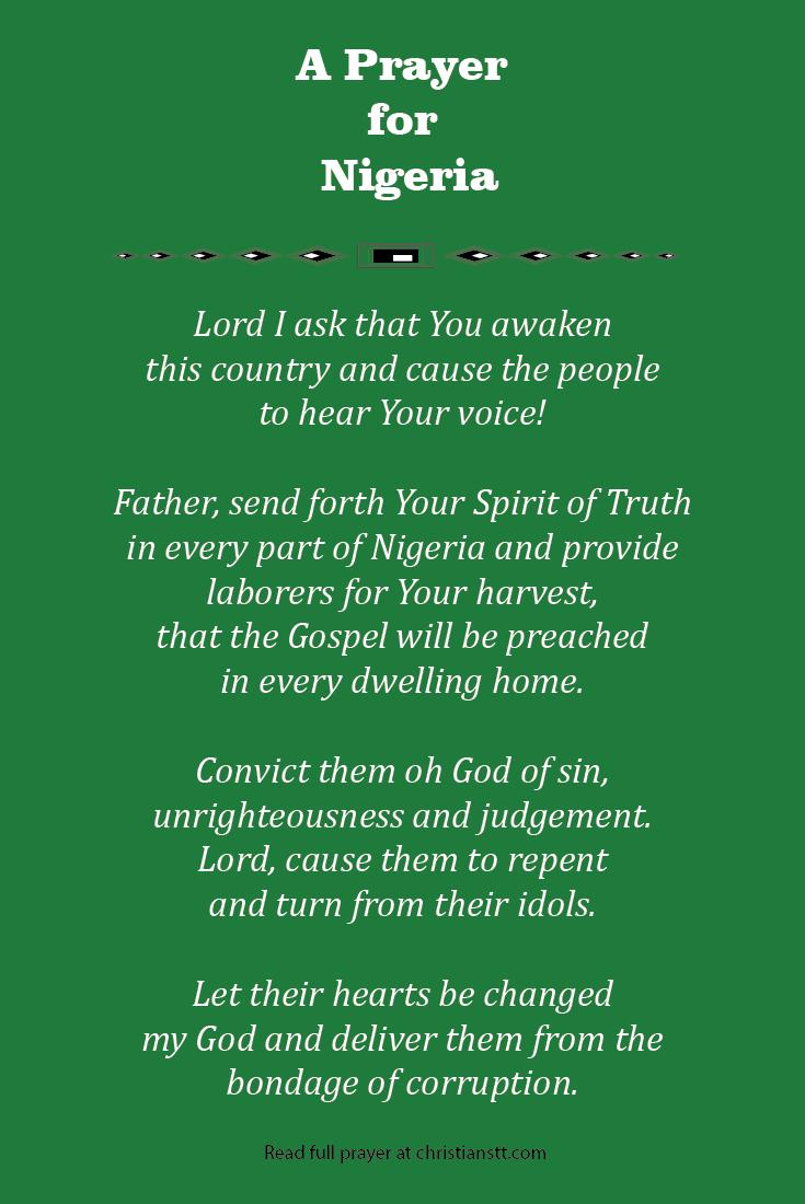 A Prayer for Nigeria