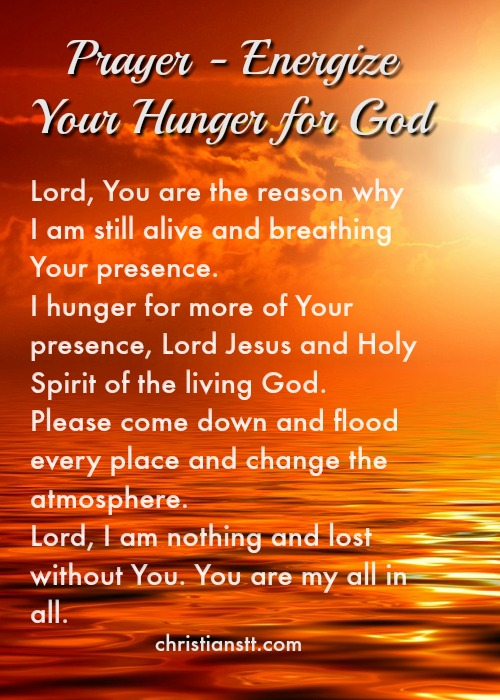 prayer - hunger for God