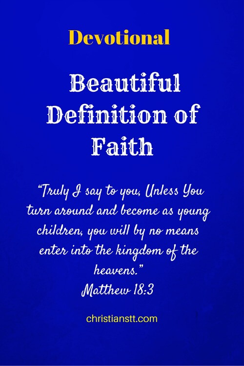 Devotional – Beautiful Definition of Faith