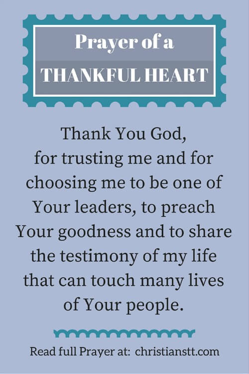 Prayer for a Thankful Heart