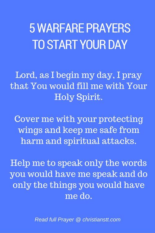 5 Warfare Prayers to Start Your Day