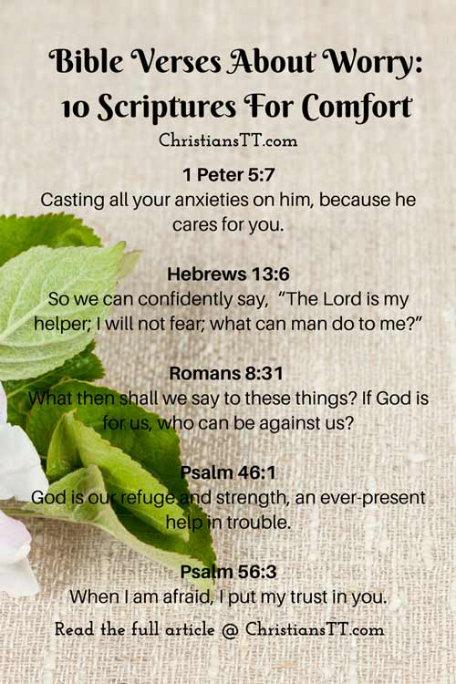 Bible verses about worry- pin