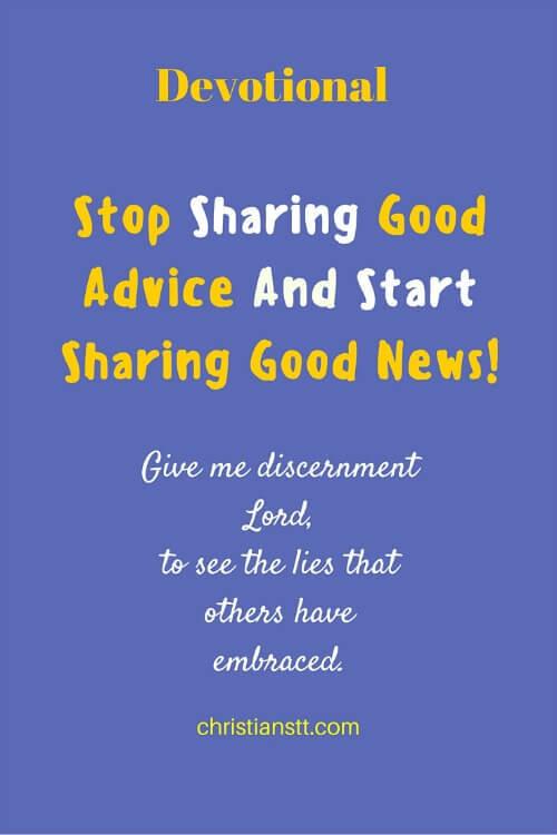 Stop Sharing Good Advice And Start Sharing Good News