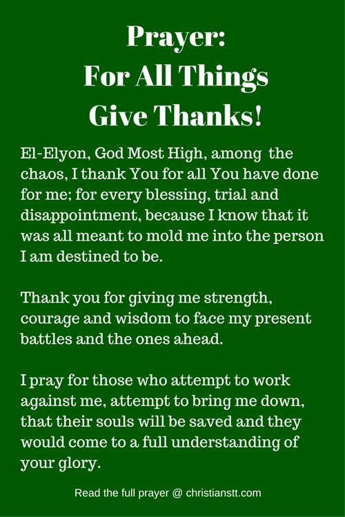 Prayer for all things give thanks pin