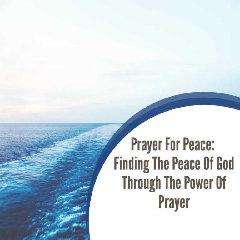 Spiritual Warfare Prayers for God's Peace