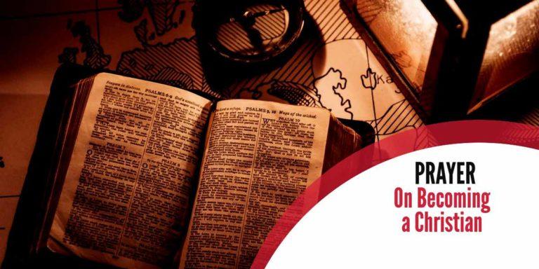 Prayer On Becoming Christian