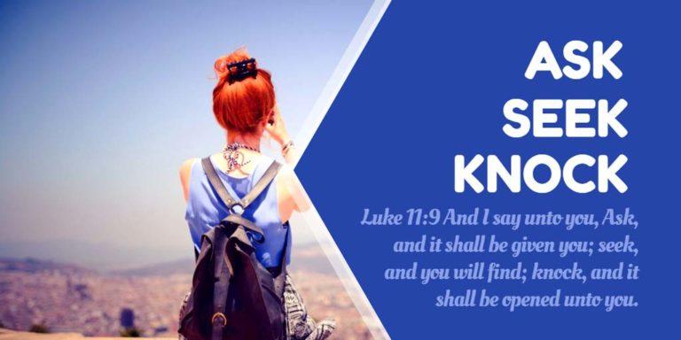 Prayer: Ask, Seek, Knock!