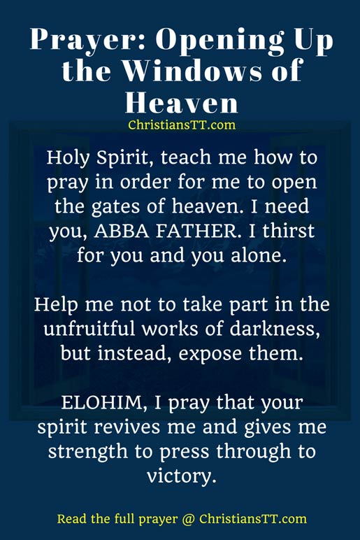 Prayer: Fill me up with your Holy Spirit
