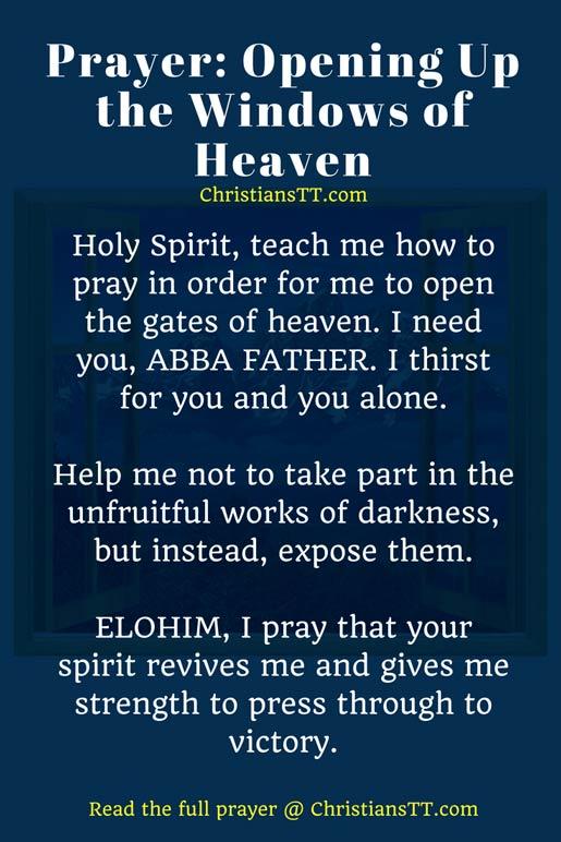 Prayer - Opening the windows of heaven