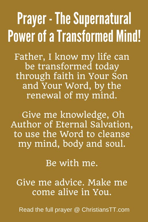 Prayer - The Supernatural Power of a Transformed Mind!