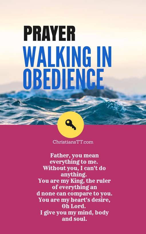 Prayer: Walking In Obedience