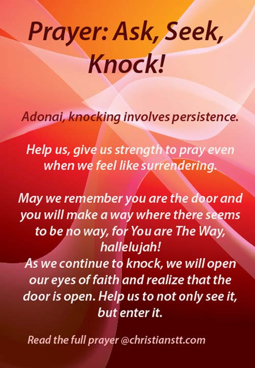 prayer - ask seek knock