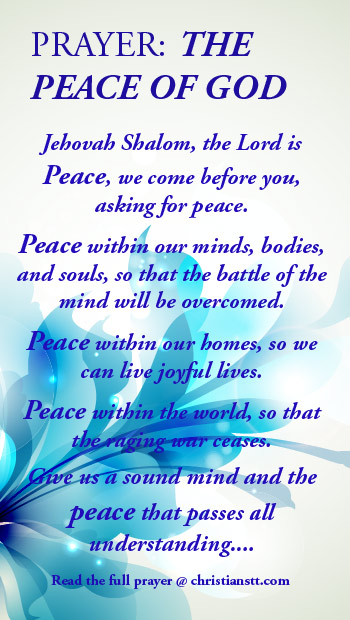 Prayer for the peace of God