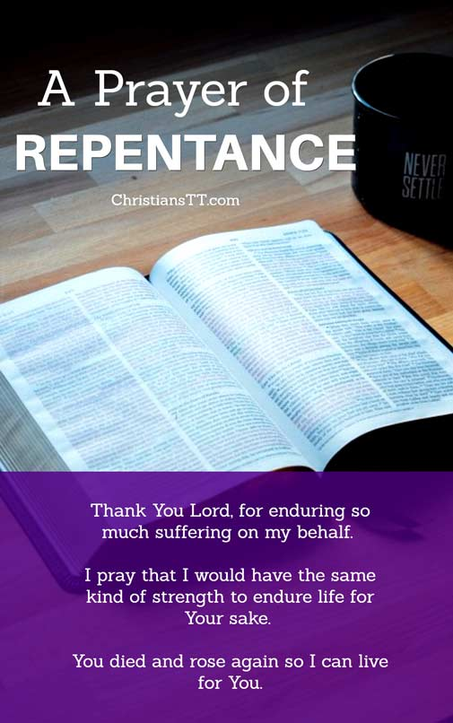 Prayer of Repentance and Reconciliation