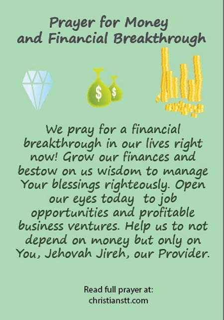 prayer for money abundance and financial breakthrough