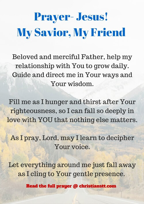 Prayer- Jesus! My Savior, My Friend