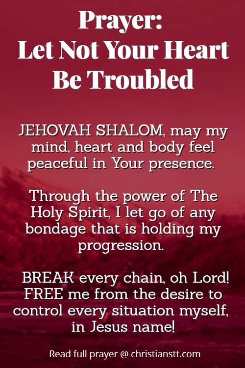 Prayer: Let not your heart be troubled