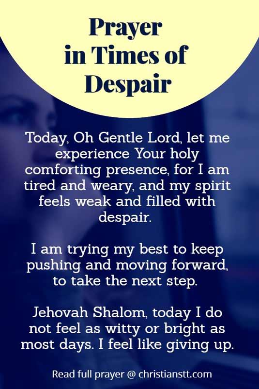 Prayer in times of despair