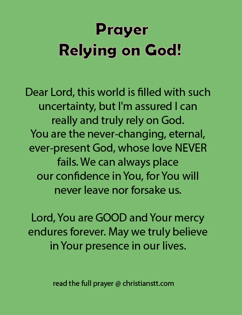 Prayer - Rely on God