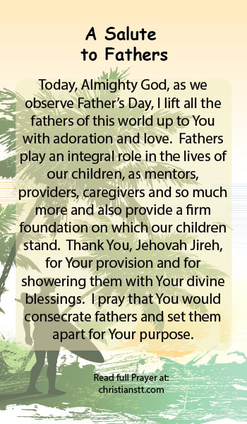 Prayer: Happy Father's Day - A Salute to Fathers