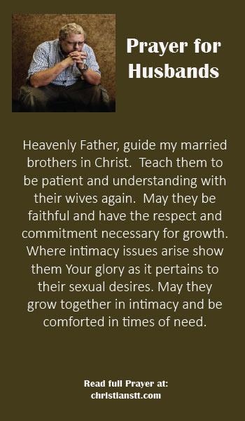 Prayer for Husbands - Respect, Faithfulness and Love - ChristiansTT