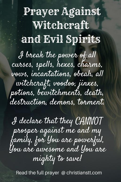 Prayer Against Witchcraft and Evil Spirits - ChristiansTT