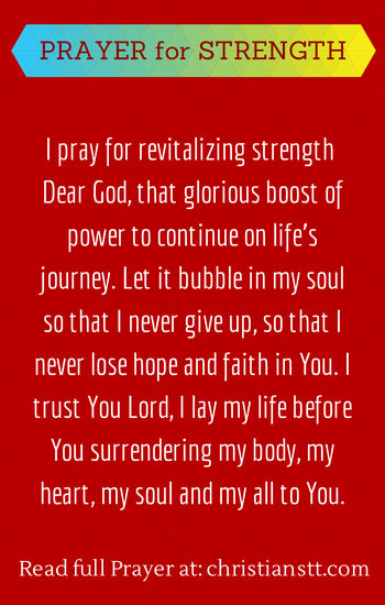 Prayer for Strength - Pinterest