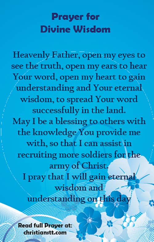 Prayer for wisdom