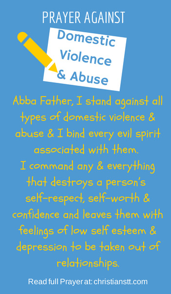 Prayer Against Domestic Violence and Abuse
