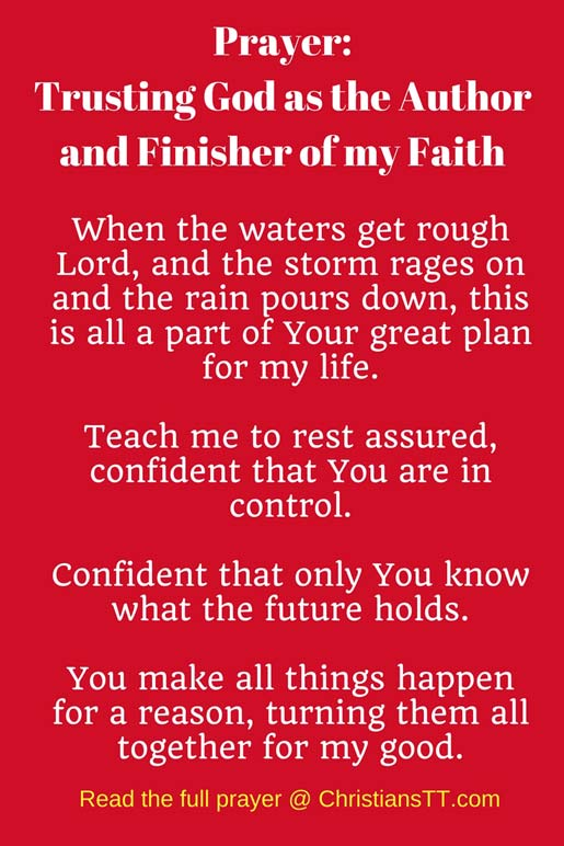 Prayer: Trusting God as the Author and Finisher of my Faith pin