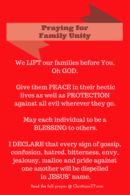 Praying for family unity