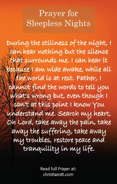 A Prayer for those Sleepless Nights - Praying when you can't