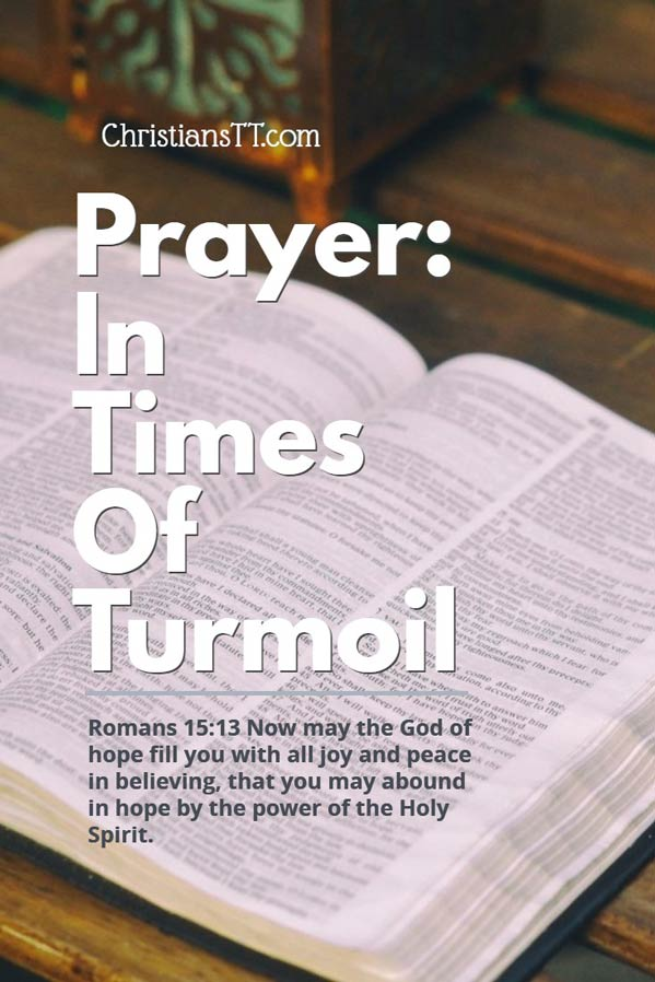 Prayer in times of turmoil