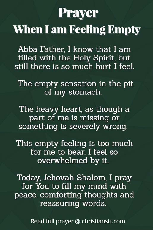 Prayer for when i am feeling empty prayer when i am feeling empty thecheapjerseys Image collections