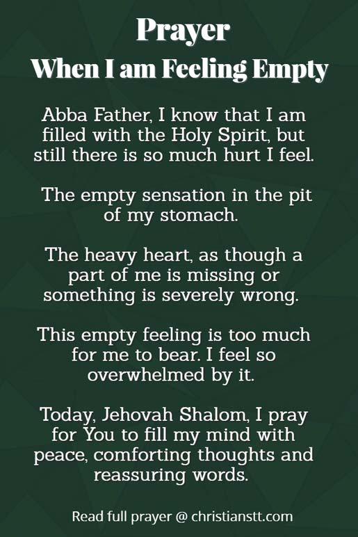 Prayer: When I am Feeling Empty