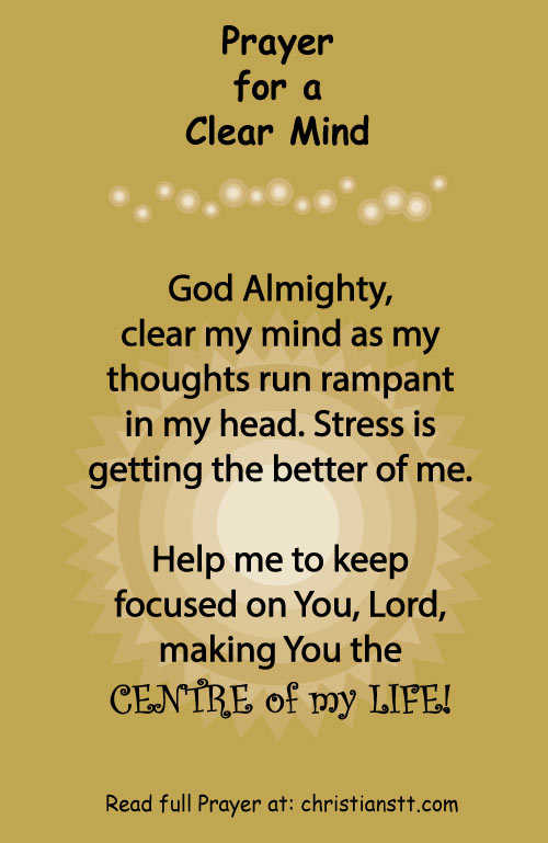 Prayer- for a clear mind