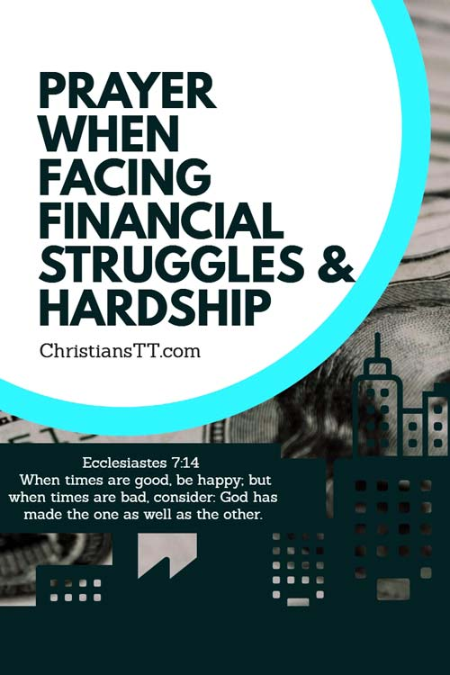 Prayer to overcome Financial Struggles and Hardship