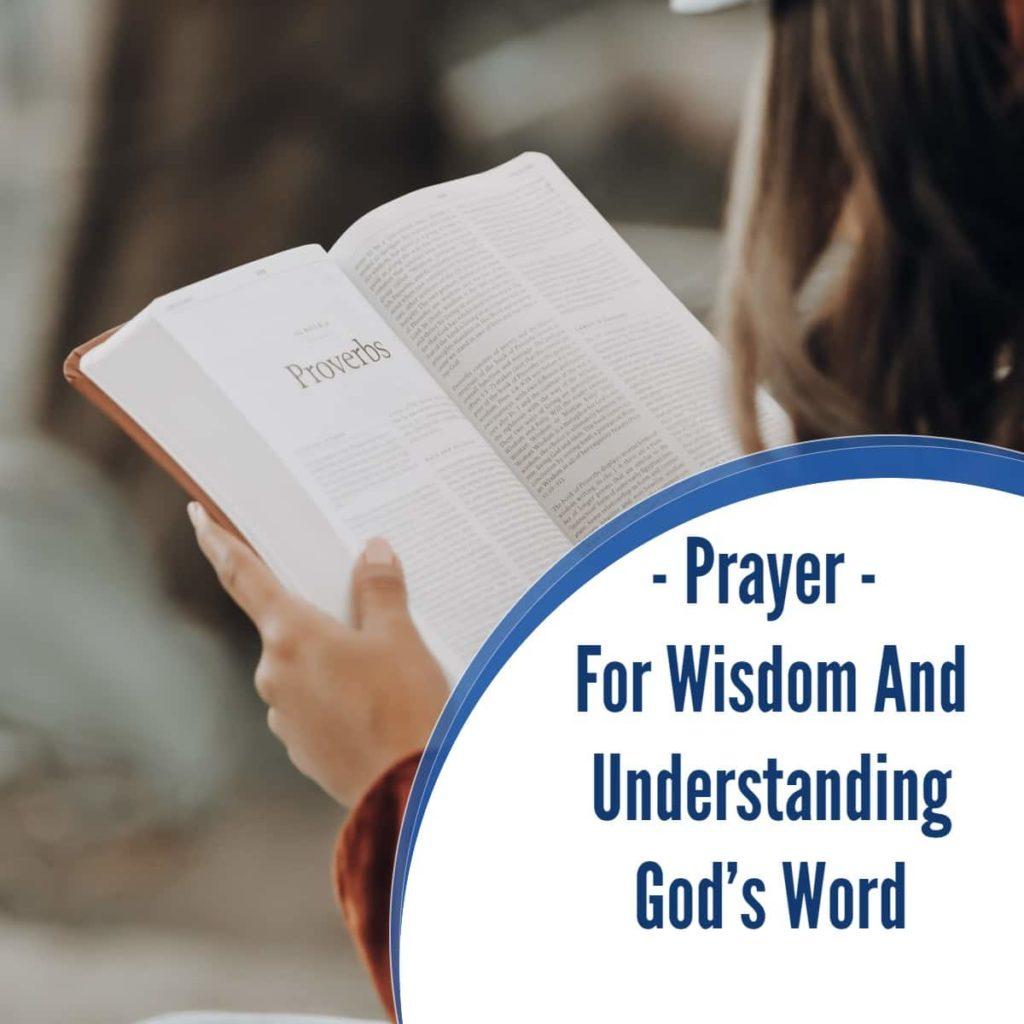 Prayer For Wisdom And Understanding God's Word