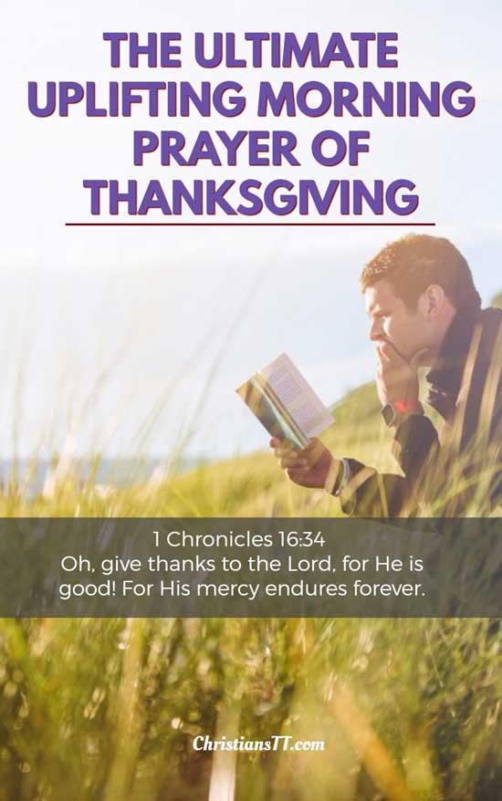 The ultimate uplifting morning Prayer of Thanksgiving