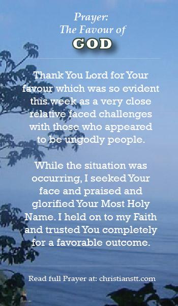Prayer: The Favour of God