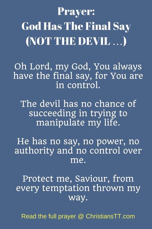 Prayer- God has the final say
