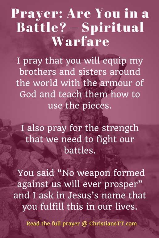Prayer: Are You in a Battle? – Spiritual Warfare