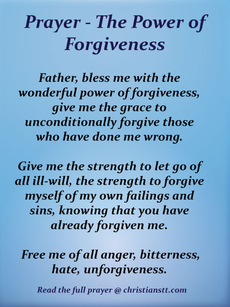 FORGIVING KNOWLEDGE IS LOVING POWER: Forgiving - Why and How